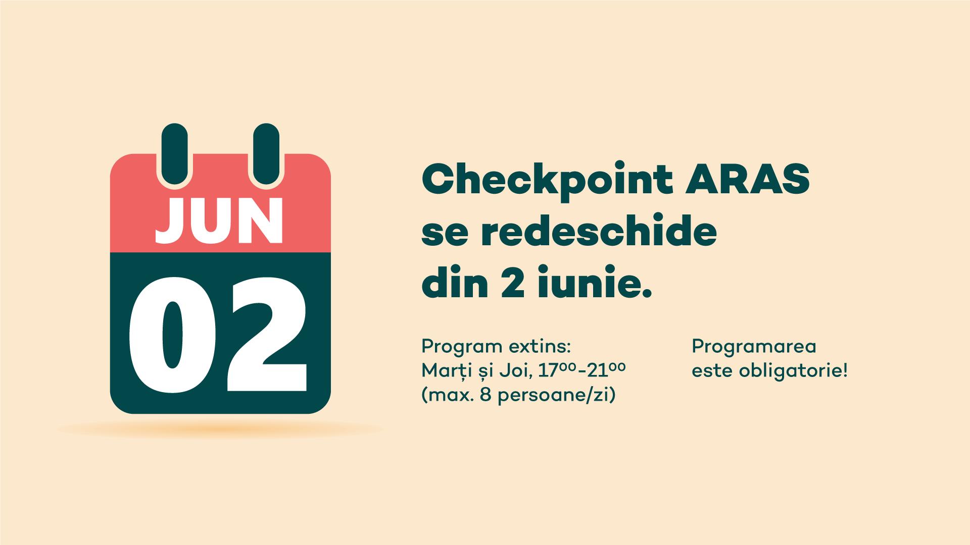 Checkpoint redeschidere